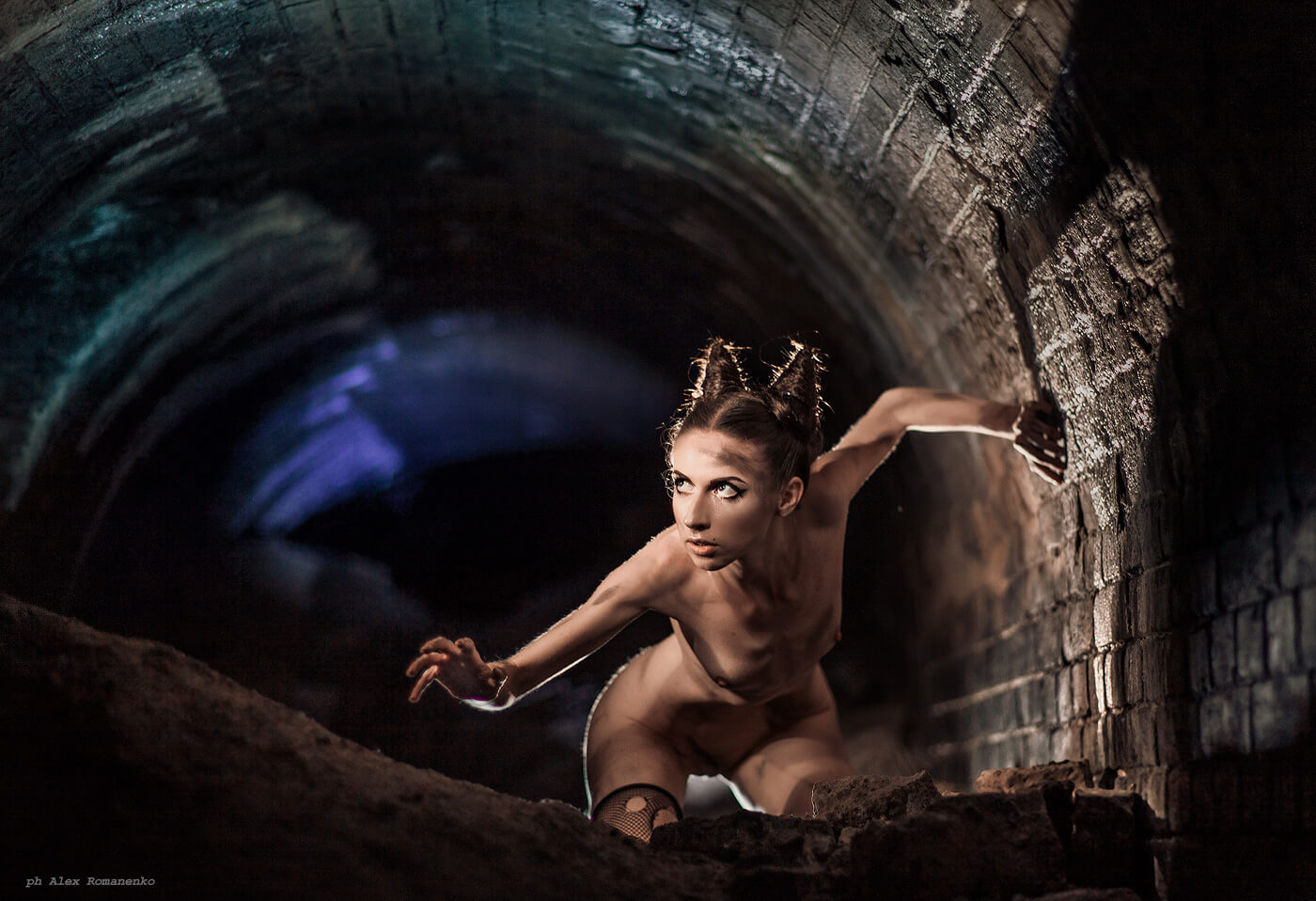 Фотограф ню Киев, девушка, чертенок, artistic nude
